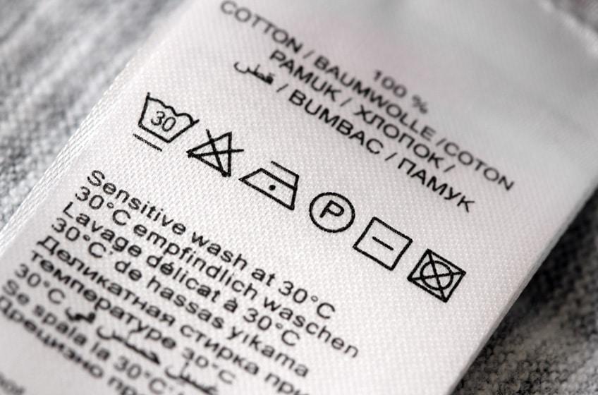 Entendendo as etiquetas de instruções de lavagem